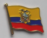 Ecuador Country Flag Enamel Pin Badge